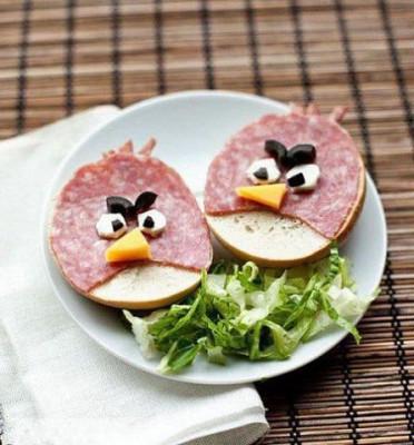 Необычное оформление блюд для детей